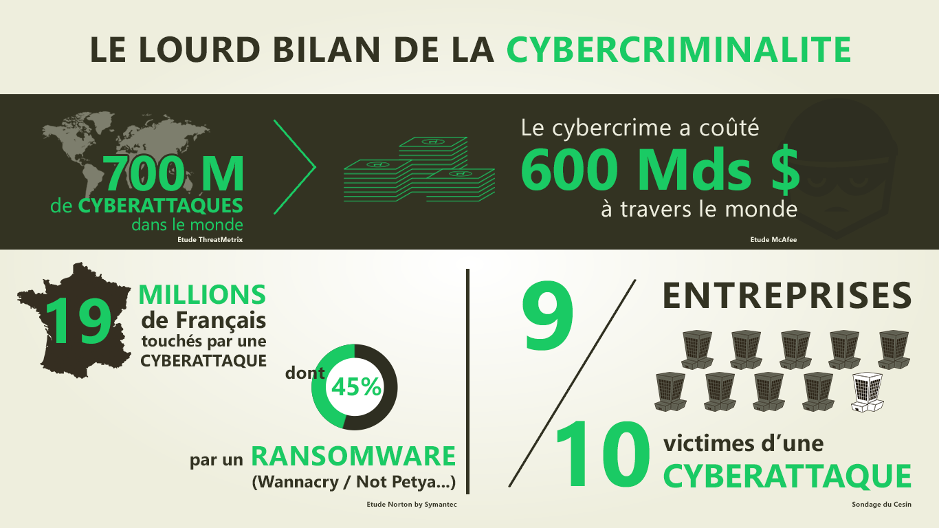 Infographie chiffres cyber 2017