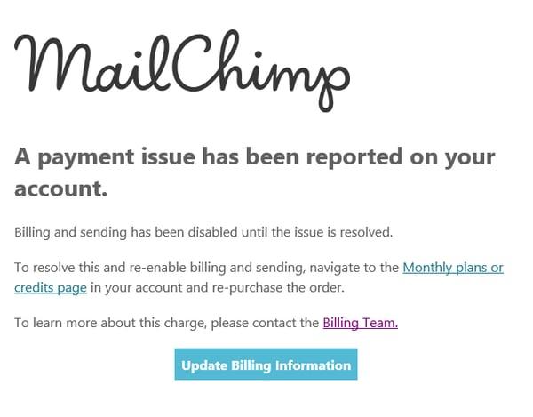 Phishing Mailchimp petit